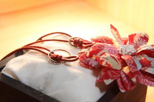 手作り和風リングピローの写真素材 [FYI00144311]