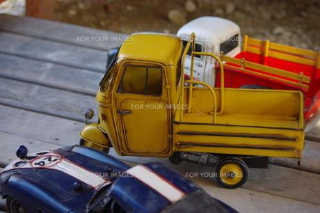 ブリキの車の写真素材 [FYI00144827]