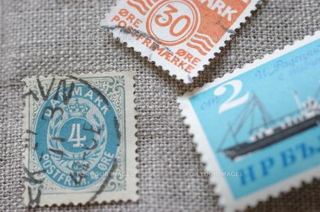 外国の古い切手(デンマーク)の写真素材 [FYI00144846]