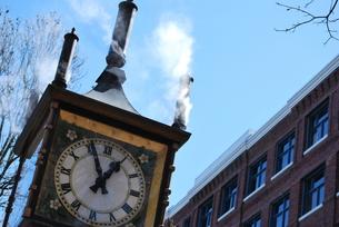 バンクーバーの蒸気時計台の写真素材 [FYI00144969]