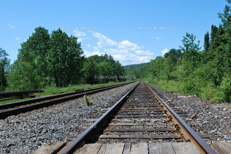 果てしない線路の写真素材 [FYI00145032]