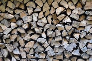 積まれた薪の写真素材 [FYI00145084]