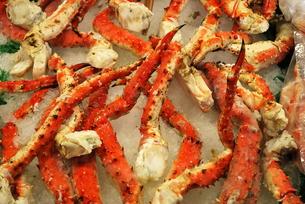 市場の蟹の写真素材 [FYI00145097]