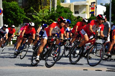 自転車レースの写真素材 [FYI00145189]