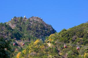 地蔵岩とゴンドラの写真素材 [FYI00145357]