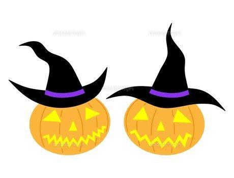 ハロウィンのかぼちゃの素材 [FYI00145582]