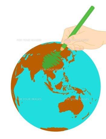 地球の緑化の写真素材 [FYI00145602]