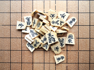 将棋の駒の写真素材 [FYI00146632]