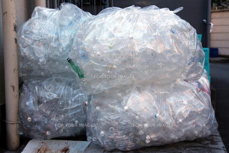 ゴミ袋のペットボトルの写真素材 [FYI00146948]