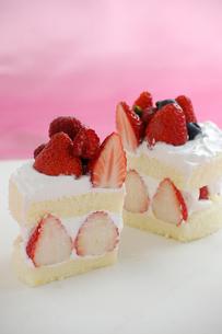 イチゴのショートケーキの写真素材 [FYI00147087]