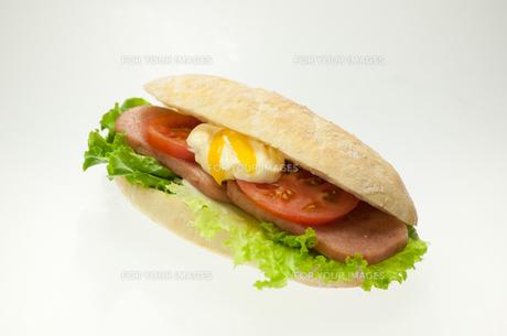 フランスパンのサンドイッチの写真素材 [FYI00147116]