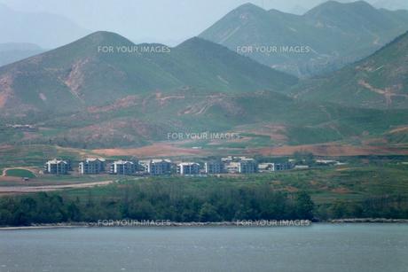北朝鮮の偽装建物の写真素材 [FYI00147586]