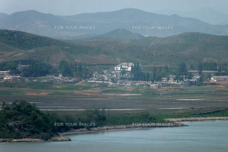 北朝鮮の農村の写真素材 [FYI00147607]