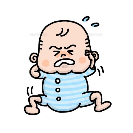 赤ちゃんが泣いているの写真素材 [FYI00147871]