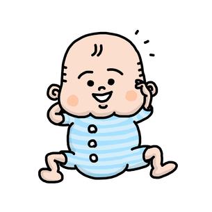 赤ちゃんの笑顔の写真素材 [FYI00147878]