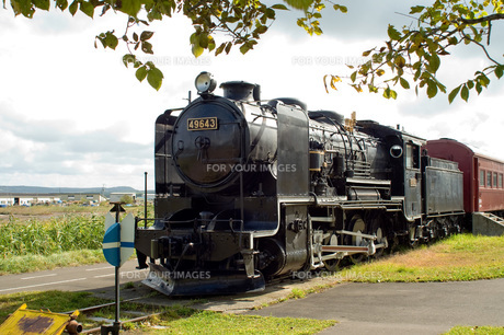 卯原内交通公園の9600型機関車の写真素材 [FYI00147994]