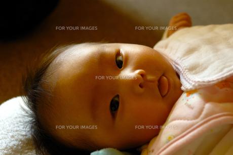赤ちゃん 舌だしの写真素材 [FYI00148758]