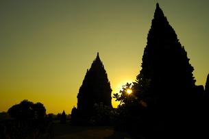夕暮れのプラン・バナン寺院の写真素材 [FYI00148805]