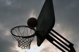 バスケットゴールの写真素材 [FYI00149336]