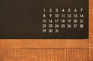 アンティークな黒板の写真素材 [FYI00149444]