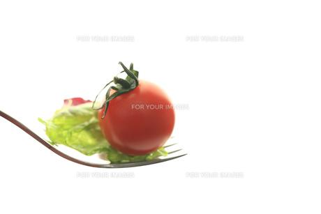 フォークの上のサラダの素材 [FYI00149612]