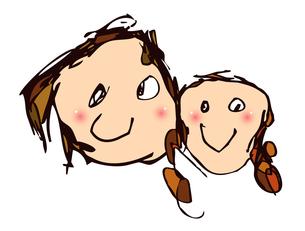 子供が描いた親子のイラストの素材 [FYI00149665]
