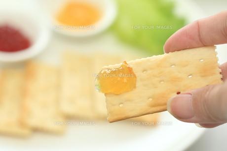 クラッカーを食べるの写真素材 [FYI00149729]
