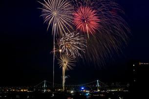 東京湾大華火大会の写真素材 [FYI00149777]