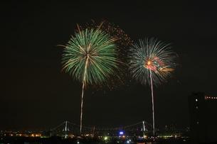 東京湾大華火大会の写真素材 [FYI00149782]