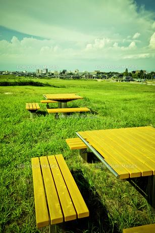 テーブルのある景色の写真素材 [FYI00150003]