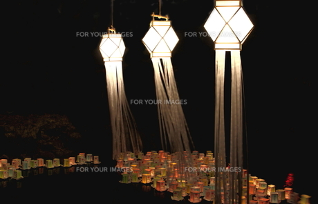 灯篭流しの写真素材 [FYI00150014]