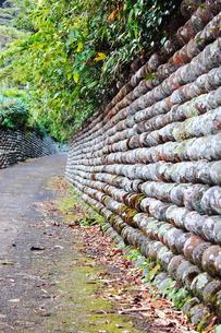 八丈島の玉石垣の写真素材 [FYI00150070]