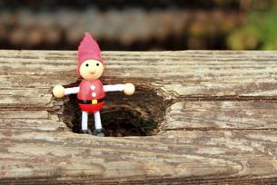 木の人形の写真素材 [FYI00150080]