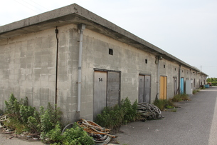 漁港の倉庫の写真素材 [FYI00150837]