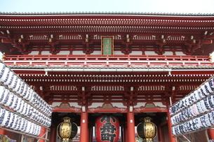 浅草浅草寺 提灯の写真素材 [FYI00150989]