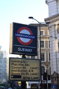 ロンドン 地下鉄表示の写真素材 [FYI00151338]