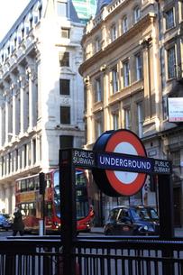 ロンドン 地下鉄表示の写真素材 [FYI00151340]