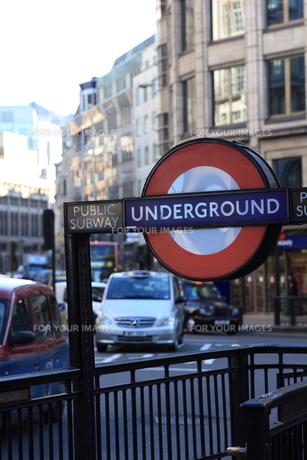 ロンドン 地下鉄表示の素材 [FYI00151349]