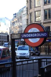 ロンドン 地下鉄表示の写真素材 [FYI00151349]