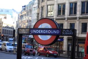 ロンドン 地下鉄表示の写真素材 [FYI00151359]