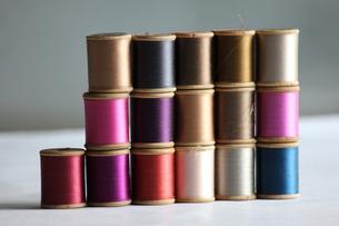 カラフルミシン糸の写真素材 [FYI00152124]