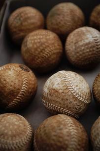 使い古しの野球ボールの写真素材 [FYI00152213]