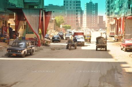 バスからの街並みの写真素材 [FYI00152399]