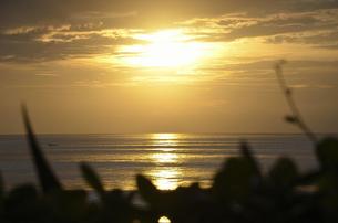 バリ島の夕日の写真素材 [FYI00152694]