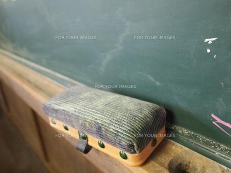 教室の黒板消しの写真素材 [FYI00152729]