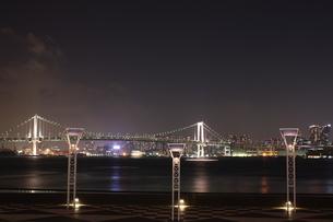 レインボーブリッジ 夜景の写真素材 [FYI00153241]