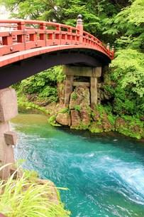 赤い橋の写真素材 [FYI00153300]