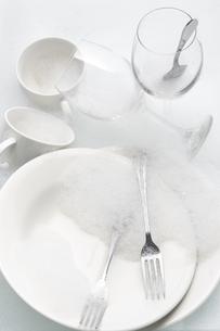 食後の食器の写真素材 [FYI00153438]