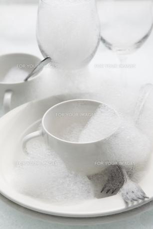 食後の食器の写真素材 [FYI00153441]
