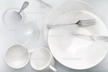 食後の食器の写真素材 [FYI00153450]